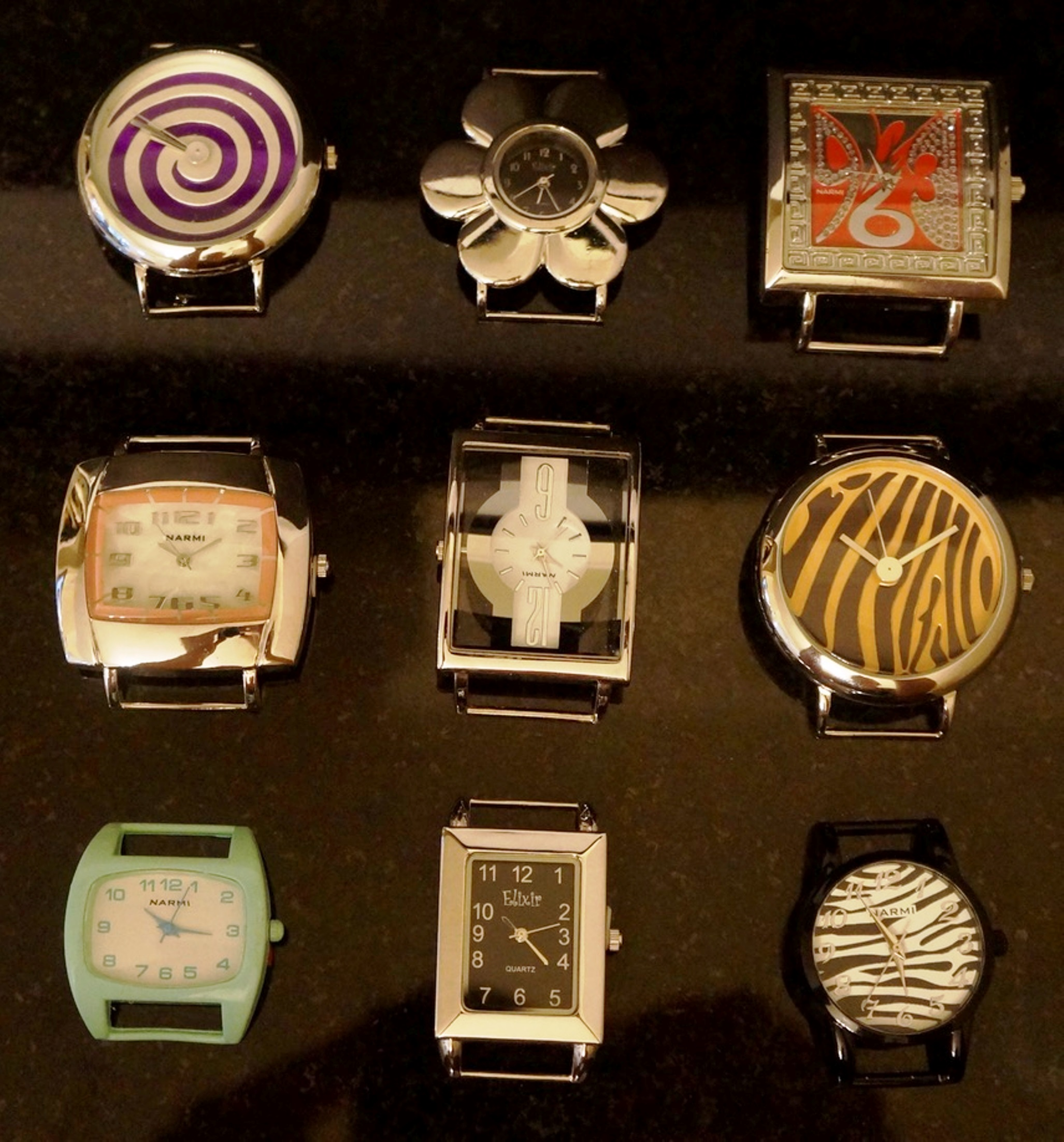 Women's 5 Mix Solid Bar Watch Face Lot