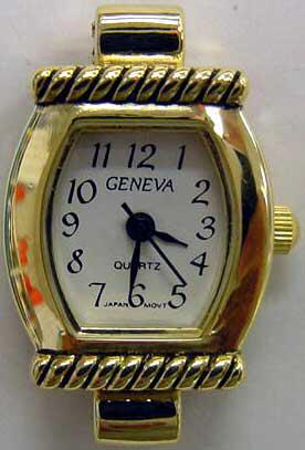 Geneva stylish Gold tone watch faces
