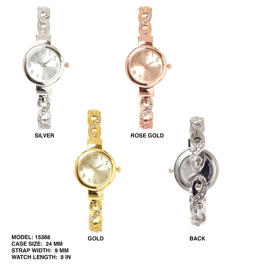 New WOMENS Geneva 24mm Elegant Style Round Dial Bangle Watch