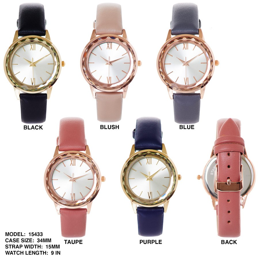 NEW Women's 34mm Stylish Round dial with Colorful Band