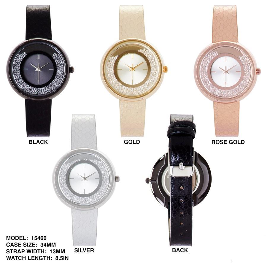 NEW Women's fancy 34mm Round CZ Dial Watch