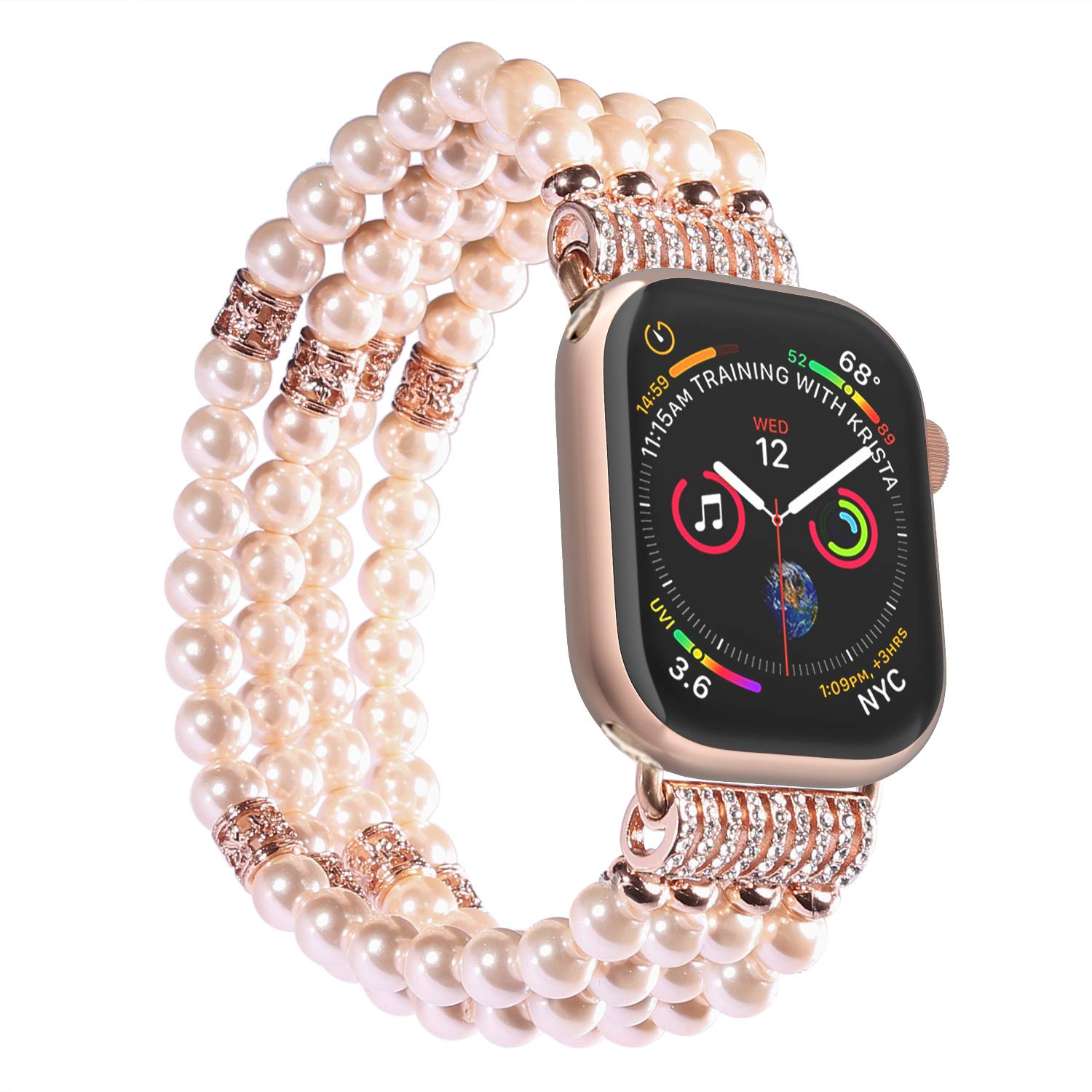 NEW Women's Apple Watch with pearl Band