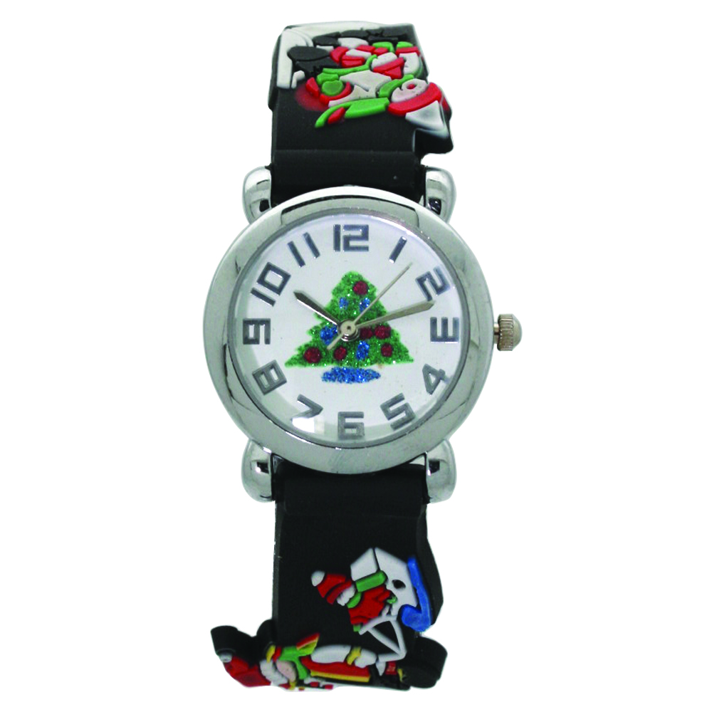 NEW Women's Christmas Watch With printed CZ dial