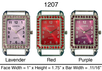 Narmi 32mm Rectangle Style Solid Bar Watch Faces