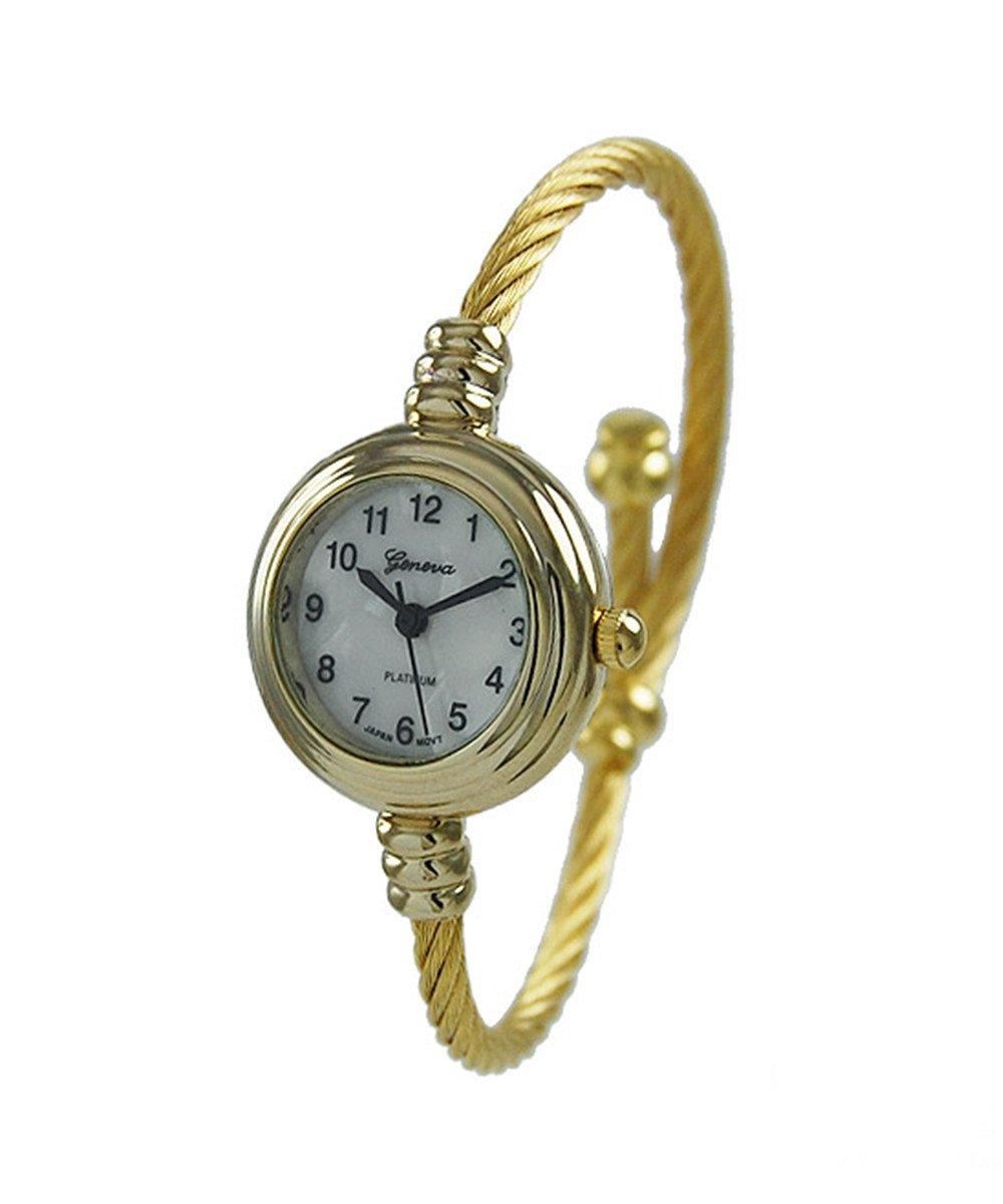 Women's CZ 22 mm round Wire Bangle Watch