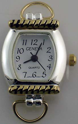 Geneva oval Two tone with Loop Watch Faces