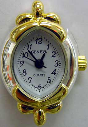 Geneva 22mm Oval  Two tone beading watch faces