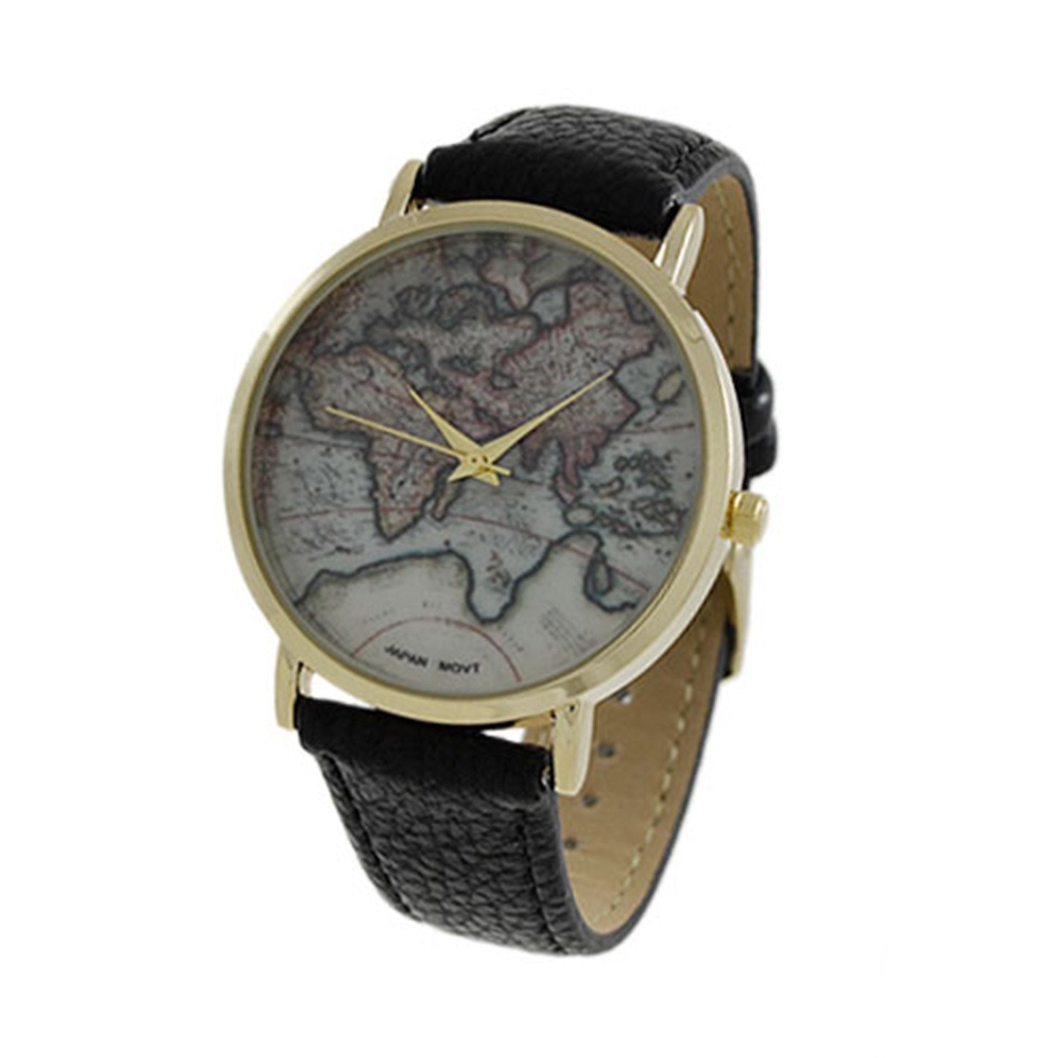Women's CZ 40mm Dial with Leather Strap Band