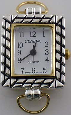 Geneva 20mm Square Two tone with Loop Watch Faces