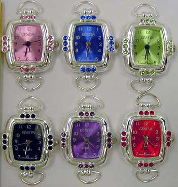 Watches Faces with Rhinestone Case & Color Dial