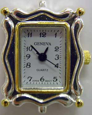 Geneva Square 22m Square Two tone beading watch faces