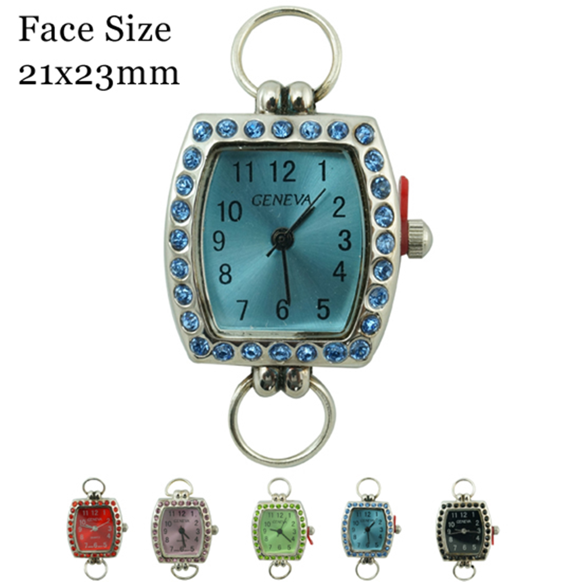 Women's 23mm fancy Dial with Colored Stone Border Face