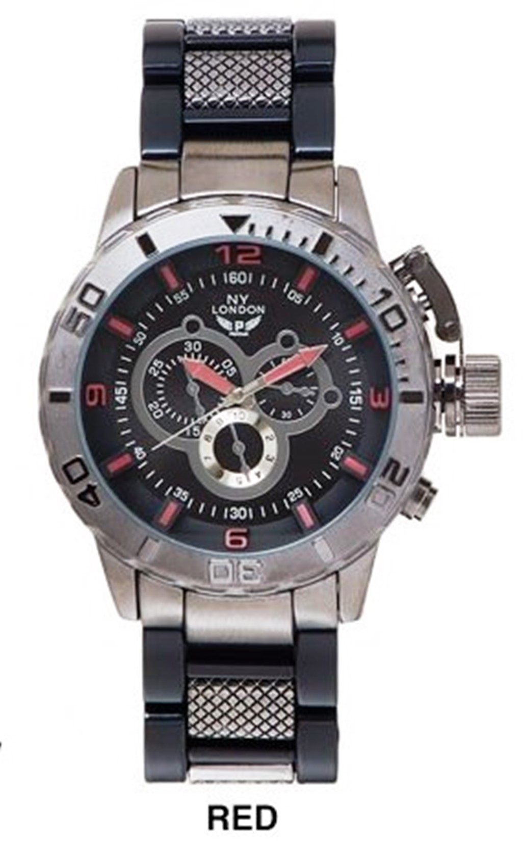 NEW Men's 3 Eye Chronograph Dial WIth fancy Stainless Steal Band