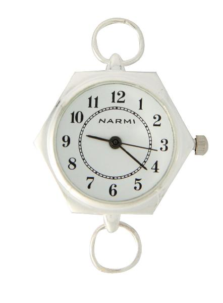 Narmi Fancy Silver tone loop watch faces