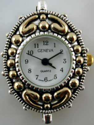 Geneva 22mm  Two Tone big hole watch face.