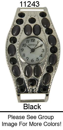 Women's Rhine Stone Solid Bar Watch Face