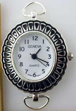 Geneva fancy Silver tone loop watch faces