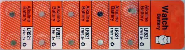 10 Alkaline Watch Batteries (LR521)