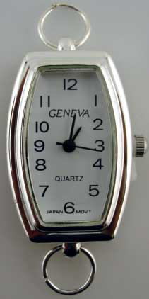 Geneva 22mm Silver tone loop watch faces