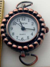 Geneva 22 mm Round  Antique Copper Watch Faces