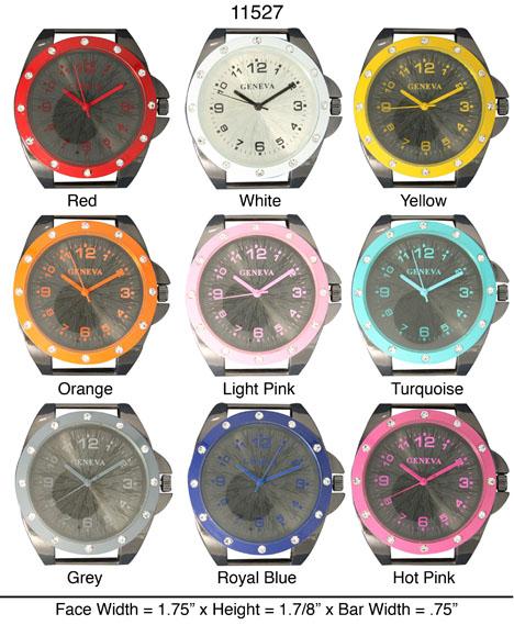 Geneva 32mm Round Solid Bar watch Face