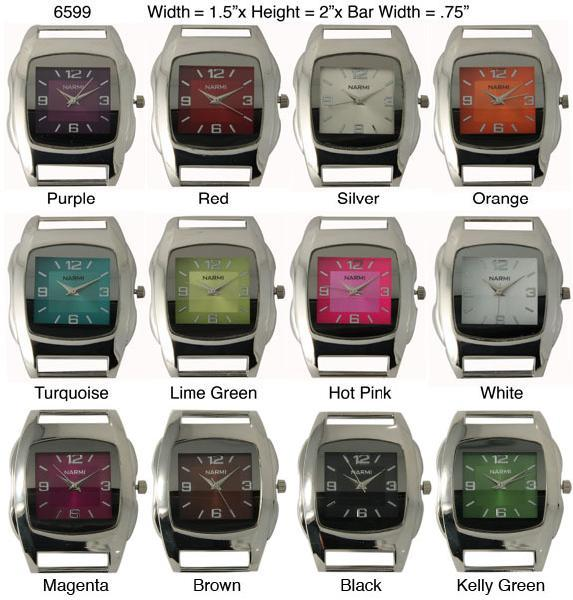 Women's 32mm square solid bar watch face