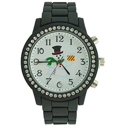 New Women's Aluminium Round CZ Christmas Designer Style Watch 37mm