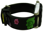 Heart Flower/Floral Style Children Watch - Black #1