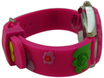 Heart Flower/Floral Style Children Watch - Hot Pink #1