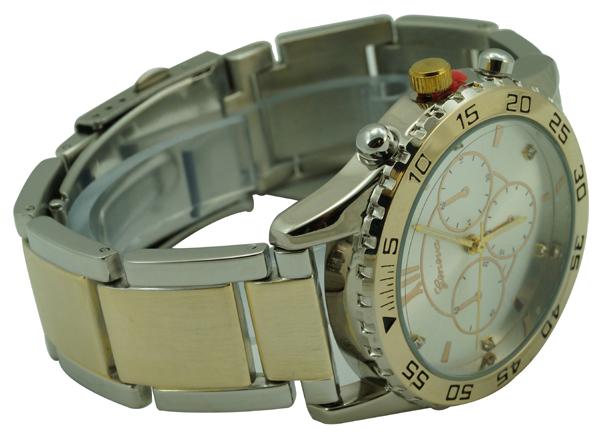 Geneva Ladies Submariner Dial Designer Style Watch - Two Tone