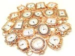 Rose Gold Beading Watch Face with Loops LOT of 5