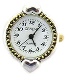 Big Hole Two Tone Beading Watch Face Heart