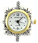 Big Hole Two Tone Beading Watch Face Square