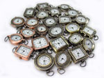Copper Brass Pewter Beading Watch Faces LOT of 5