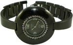 Designer Style CZ Fashion Watch - Black