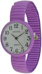 Geneva Mini Stretch Band Fashion Watch 30 mm - Lavender