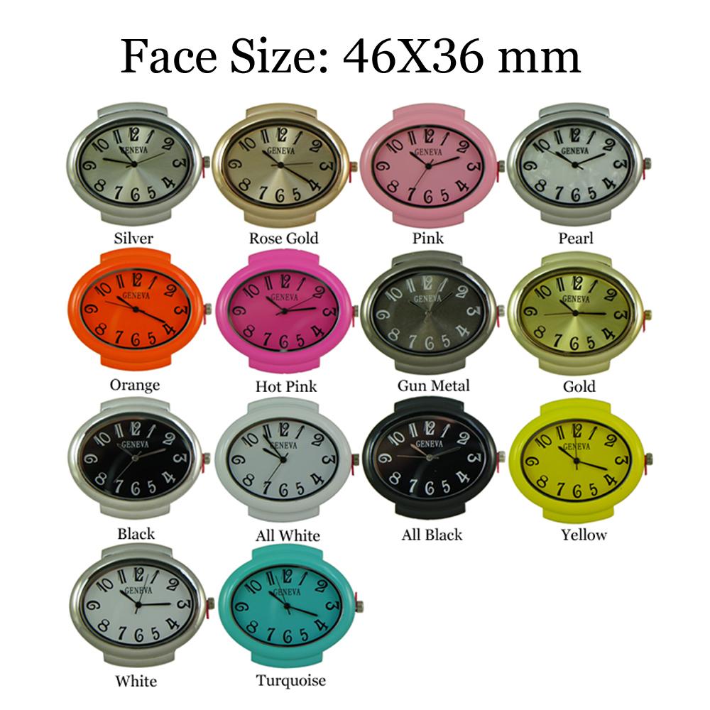 Geneva 5 Hole Oval Multi Strand Beading Watch Faces 46X36 mm