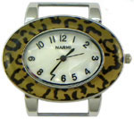 Turtle Shell Oval Solid Bar Watch Face - Cheeta