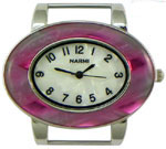 Turtle Shell Oval Solid Bar Watch Face - Purple