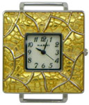 Stained Glass Solid Bar Watch Face - Gold