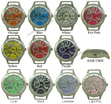 LOT of 5 Fancy O CZ Dial Solid Bar CZ Watch Faces - SALE!!
