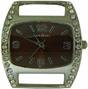 Wholesale Solid Bar CZ Ribbon Watch Face - Medium - Brown