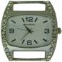 Wholesale Solid Bar CZ Ribbon Watch Face - Medium - White
