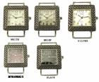 LOT of 5 Braided Bali Style Solid Bar Watch Faces Square