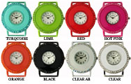 Solid Bar Ribbon Watch Faces w/Matching Rhinestones