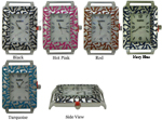 LOT of 5 Vine Pattern Rectangle Solid Bar Ribbon Watch Faces