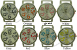 LOT of 5 Majestic Lettering Solid Bar Watch Faces