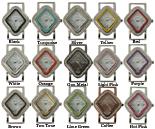 LOT 5 of Diamond Shape Rhinestone CZ Solid Bar Watch Faces