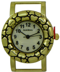 Bali Style Heart Solid Bar Watch Face - Gold
