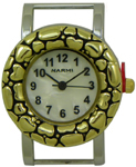 Bali Style Heart Solid Bar Watch Face - Two Tone